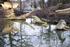 Pterodactyl (Oolite) statues, restored 2000, damaged after 2005, Crystal Palace Dinosaurs | ProfJoeCain