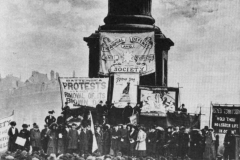 anti-vivisection protest 1910 about the Brown Dog case