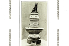 Brown Dog Memorial on Granite Plinth with Plaque showing Libellous Narrative at Heart of Protests