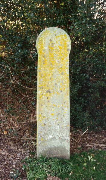 Marker for original Piltdown Excavation site (from WikiCommons)