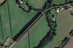Marker for original Piltdown Excavation site -Barkham Lane - from GoogleMaps