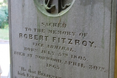 Robert Fitzroy head stone, All Saints Church, Upper Norwood, London, England