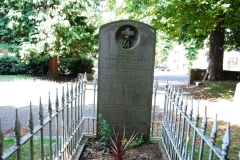 Robert Fitzroy head stone and grave, All Saints Church, Upper Norwood, London, England