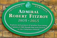Commemorative Plaque at house in which Robert Fitzroy lived, Upper Norwood, South London, England
