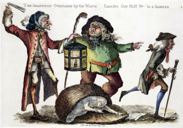 The anatomist overtaken by the watch carrying off Miss W-ts in a hamper