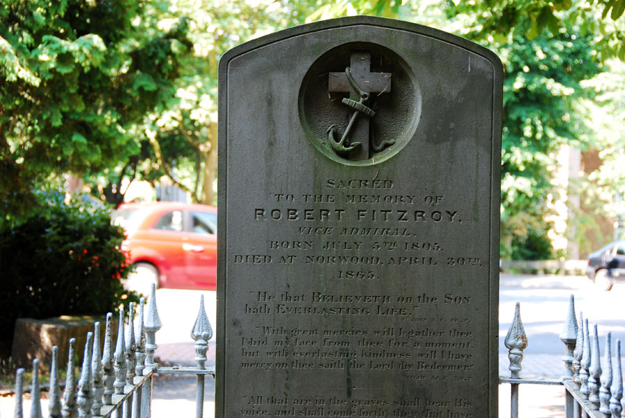 Grave of Vice-Admiral Robert Fitzroy, Upper Norwood, London