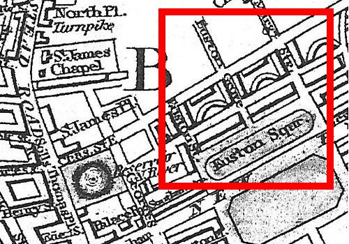 Wallis's 1821 Guidefor Strangersthrough London, showing Euston Grove and Euston Square